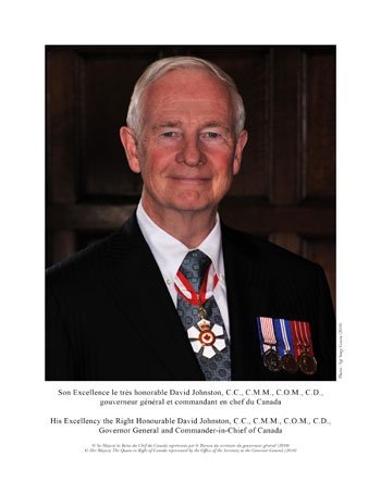 Son Excellence le très honorable David Johnston, gouverneur général du Canada