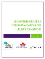 Les expériences de la cyberintimidation des jeunes Canadiens